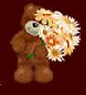 Teddybear mit Blumen
