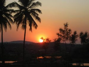Sunset in Hampi/ India