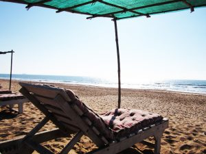 Liege am Strand