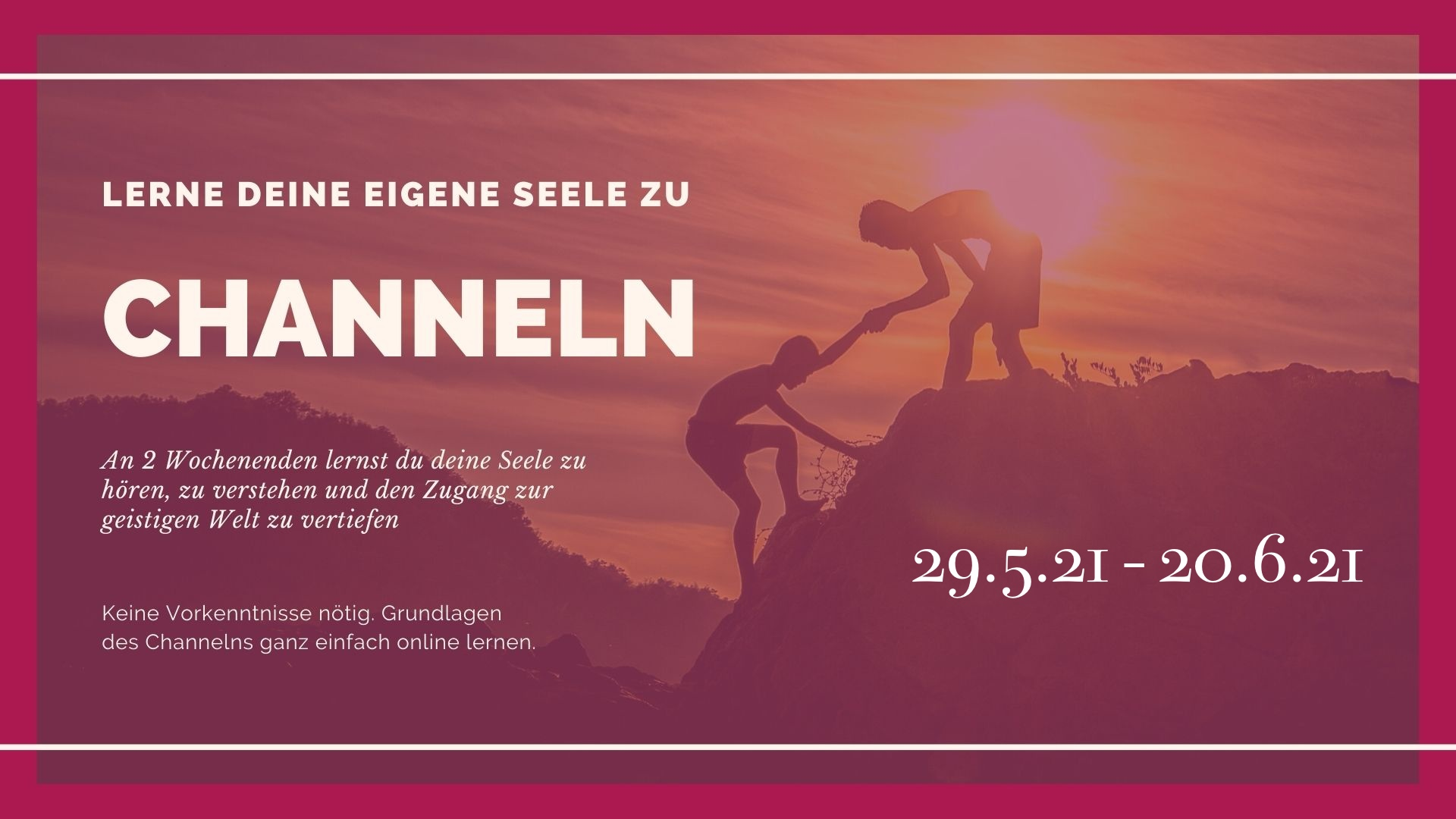Channeln lernen Module 1-2 Basic Kurs: https://sabrinas.academy/events/channeln-lernen-basic-modul-1-2/